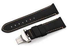24mm Handmade Kevlar Leather Watch Strap Band for PAM Mens Watch Folded Clasp