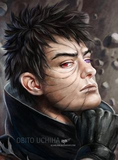 Next on in the row of the semi-realism portraits is Obito Uchiha. I had the mood to do him and I espcially dedicate this one to , for she loves Obito very much! I hope, you like my version of him. ...