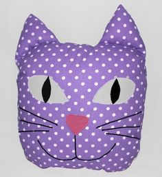 funny CAT baby pillow / KITTEN soft toy / cuddly toy by ELWOstudio