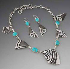 Jewelry from replicas of ancient Anasazi pot shards