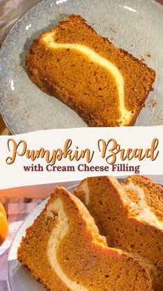 Easy Fall Desserts, Fall Dessert Recipes, Fall Recipes, Delicious Desserts, Yummy Food, Easy Pumpkin Bread, Gluten Free Pumpkin Bread, Pumpkin Banana Bread, Cantaloupe Recipes Bread