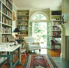 Love the light, casual feel of this library