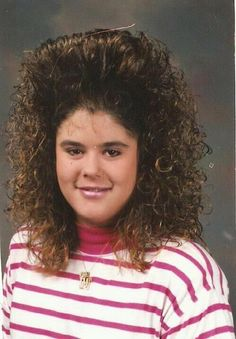 Hair that defies gravity...Juanita...did your Mom make you wear this hairdo? Life is so unfair...