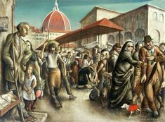 Florentine market place, (The red balloon) by Edward Bullmore in Important, Early & Rare on July 2008 at the null null sale null, lot 53 Red Balloon, Balloons, Ted, Auction, Marketing, Places, Painting, Globes, Painting Art
