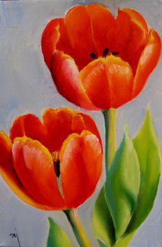 Nel's Everyday Painting: Red Tulips, NA