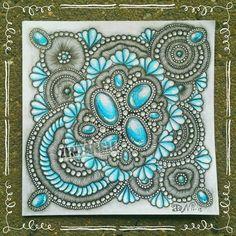 Zentangle gems