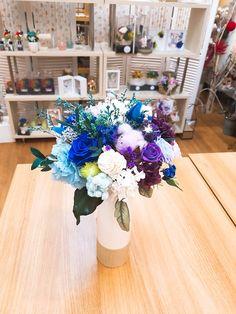 파란색꽃들의 만남