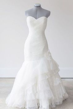 Mermaid Sweetheart Ruched Wedding Dress Ruched Wedding Dress, Lace Mermaid Wedding Dress, Mermaid Dresses, Arabic Wedding Dresses, Bridal Dresses, Wedding Gowns, Bridesmaid Dresses, Mermaid Sweetheart, Future