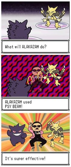 Alakazam used PSY beam  - funny pictures #funnypictures
