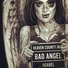 Ahahah badass angel she is! This is such a cool design...if only og able made skateboard decks!:-