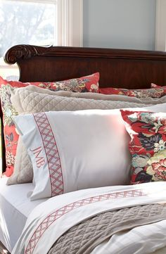Influenced by the bold designs found in Moroccan tiles, our Resort Sheets add a touch of spice to your bedding. The lively geometric pattern is embroidered in vibrant colors along the hemline of these sateen-woven, 600 thread count sheets.