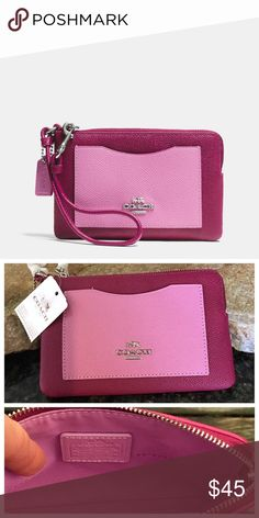 "NWT Coach adorable wristlet!! NWT Coach adorable wristlet!!  Measures 6.5"" in length & 4"" in height Coach Bags Clutches & Wristlets"