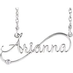 NEW! Diamond Infinity-Inspired Script Nameplate Necklace. Click through for product details OR to locate a jeweler near you!