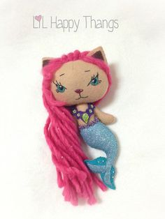 Handmade Merkitty Doll by LilHappyThangs on Etsy