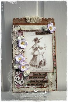 Vintage Card by LLC DT Member Elin Torbergsen, using papers from Reprint.