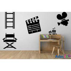 Adesivos Decorativos Cinema-R$174,24