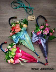 Valentines Crafts for Kids to Make Umbrella Wreath, Umbrella Decorations, Flower Decorations, Mini Umbrella, Ribbon Crafts, Flower Crafts, Flower Art, Paper Crafts, Fabric Flowers