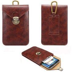 a20db9a58 Hot-sale Men PU Leather Phone Bag Dual-Use Waist Bag - NewChic Mobile