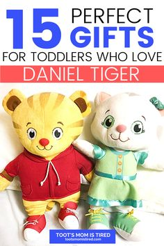 15 Perfect Gifts for Toddlers Who Love Daniel Tiger's Neighborhood | Best Daniel Tiger Toys for Toddlers, one year olds, two year olds, three year olds, four year olds. Birthday Gift ideas for toddlers. Toddler Age, Toddler Gifts, Toddler Toys, Three Year Olds, One Year Old, Two Years Old Activities, Daniel Tiger's Neighborhood, Tired Mom, Toot