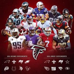 A look at the #Falcons 2015 Opponents. #RiseUp