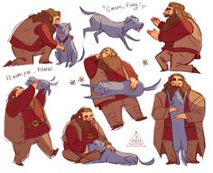 """Hagrid and Fang - the """"best friends"""""""