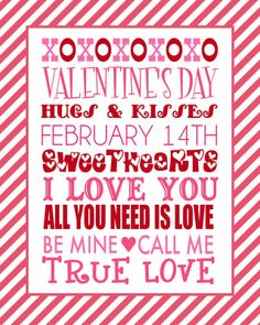 The Jacobs Clan: FREE Valentine's Day Printable