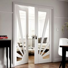 Over 200 timber and wooden doors designed to suit all budgets, find the perfect wood internal doors or external door designs from JB Kind's Door Collection. Door Design Interior, Interior Barn Doors, Interior Decorating, Internal Double Doors, Internal Wooden Doors, Solid Doors, White Doors, Primed Doors, White Paneling