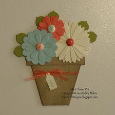 209 Best Flowerpot Cards Images Flower Cards Planters Paper Flowers