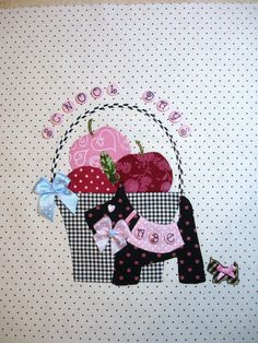September Tisket a Tasket Block Finished. Quilt Block Patterns, Applique Patterns, Pattern Blocks, Quilt Blocks, Quilting Projects, Quilting Designs, Sewing Projects, Scrappy Quilts, Mini Quilts