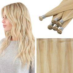 Bundles 100% Virgin Human Hair Sew In Hair Weft Handmade Color Blonde #16P22