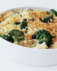 Broccoli and Cauliflower Gratin with Cheddar Cheese Recipe on Food & Wine