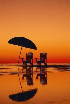Low Tide at Sundown