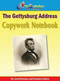 Abraham Lincoln's Gettysburg Address Copywork Notebook w/Vocabulary Extensions - Knowledge Box Central |  | Copywork | Literature & Grammar | Government & HistoryCurrClick