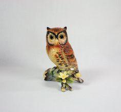 Vintage 1970's Porcelain Owl Figurine Made by vintagefindsetcetera, $15.00