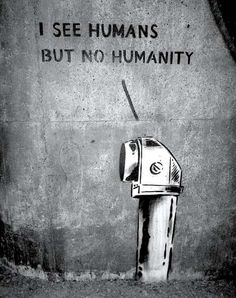 Foto: • COMMANDMENTS •  ◦ I see humans but No Humanity ◦ artist: Peter Baranowski  location: Stockholm,Sweden