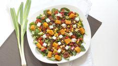 Salade met zoete aardappel en linzen. Deze ga ik echt snel maken!