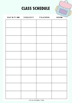 Teacher Daily Schedule Template Lovely 40 Free Student Planner Printables for Back to School School Schedule Printable, Class Schedule Template, Student Planner Printable, Planner Template, Monthly Planner, Class Schedule College, Classroom Schedule, Study Schedule, Weekly Schedule