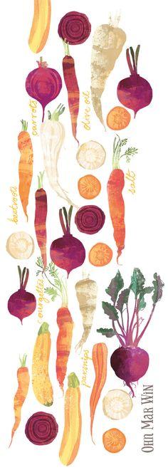 Autumn vegetables Carrots parsnip beetroot Ohn Mar Win