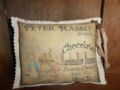 PrimiTive Early Look Grubby PeTeR RaBBiT AdverTismenT ShelF SiTTer/ BowL FiLLer #Primitivestyle #Nannysattic15 Ebay