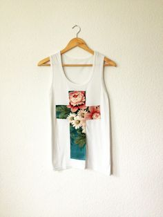 Flower cross tshirt