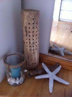 Deko-Holzlampe - Altholz-look von handmade auf DaWanda.com