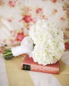 This IS what my bridesmaids will have! White hydrangea…no greenery…small…only difference is our ribbons will be grey. This IS what my bridesmaids will have! White hydrangea…no greenery…small…only difference is our… Hydrangea Bridesmaid Bouquet, White Hydrangea Bouquet, Bride Bouquets, Flower Bouquet Wedding, Floral Wedding, Bouquet Flowers, White Hydrangeas, Our Wedding, Dream Wedding