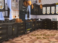 Continoing the French Quarter Series with the Kitchen  Found in TSR Category 'Sims 4 Kitchen Sets'
