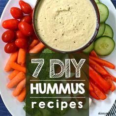 7 DIY Hummus. Hummus dip can be a perfect way to get kids to eat veggies. #hummusrecipes #getkidstoeatveggies