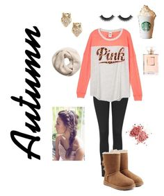 """""""Easy autumn outfit"""" by fashionmalena13 ❤ liked on Polyvore featuring Topshop, UGG Australia, Kate Spade and H&M"""