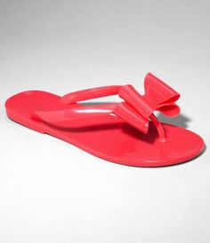 d1313d67bd0325 express.com - bow front jelly flip flops in hot tamale (the yellow neon