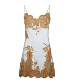 Marjolaine Lace Trim Silk Chemise available to buy at Harrods. Shop designer nightwear online and earn Rewards points.