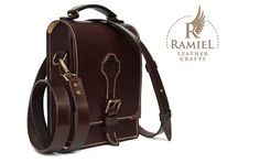 Veg tanned cowhide messenger bag. Size: 23/18/7 cm. Hand stiched. Dark brown dye #RamielLeatherCrafts #messengerbags #leatherbags #vegtannedleather #leather #bags #messenger #fullgrainleather Duffle Bag Travel, Duffle Bags, Travel Bags, Leather Bags Handmade, Leather Craft, Vintage Leather Backpack, Tan Bag, Leather Shoulder Bag, Shoulder Bags