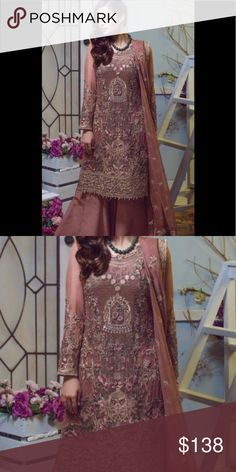 190d8a5d6b Pakistani Embroidered Stitched salwar kameez Stitched women Pakistani  Embroidered ladies salwar kameez medium size Dresses Wedding. Poshmark