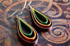 leather loop earrings ~ livit vivid